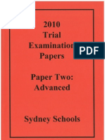 2010 Trial Examination Papers - Modules