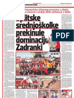 Školski sport 20.4.2011.