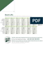 Platform Sales Boom Lift Hire Brochure