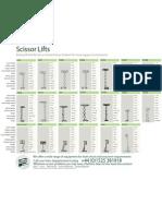 Platform Sales Scissor Lift Hire Brochure