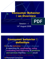 Session 1 - Introduction to CONSUMER BEHAVIOR