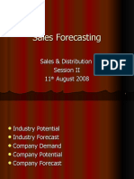 Session 2 - Sales Forecasting