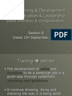 Session 8 - Training & Development