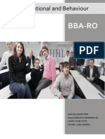 Organizational and Behaviour