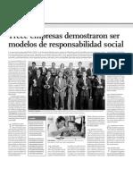 Trece empresas demostraron ser modelos de responsabilidad social