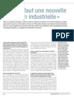 Il nous faut une nouvelle révolution industrielle