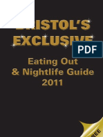 Bristol's Exclusive Eating Out and Nightlife Guide