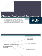Cleaner Design and Technology PP; Week 2 Sept.