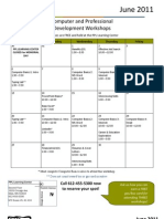 June 2011 Workshops Calendar