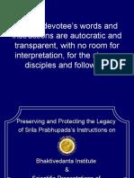 Protecting the Legacy of Bhaktivedanta Institute