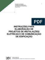 Projetos de Instalacoes Eletricas e de Comunicacao de Edificacao