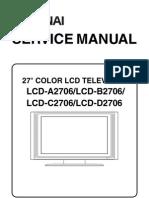 Funai LCD-A2706 B2706 C2706 D2706(L5820EA 21BB 22FC 23RD Corrected Service Manual