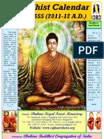 Buddhist Calendar 2555