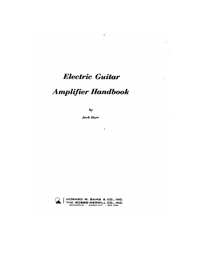 Electric Guitar Amp Handbook Jack Darr