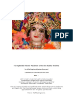 The Splendid Flower Pastimes of Sri Sri Radha-Krishna
