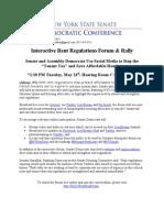 Interactive Rent Regulations Forum & Rally