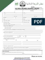 Talaq Application 311010