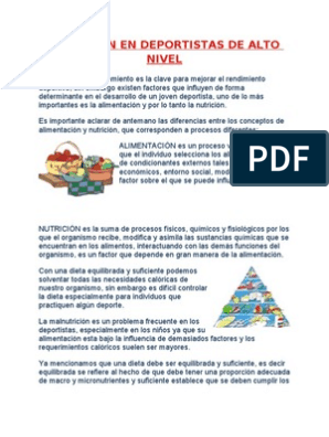 Alimentos para deportistas pdf