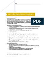 Internship Guidelines for Employers