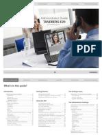 TANDBERG E20 Administrator Guide (TE1)