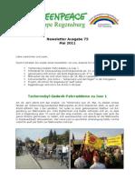 Greenpeace-Gruppe Regensburg - Newsletter 73 vom 23. Mai 2011