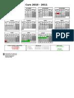 Calendar i 201011
