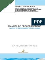 MANUAL-DEFINITIVO-2010  DE PROCEDIMIENTOS SECCIÓN DE ASEGURAMIENTO DE CALIDAD