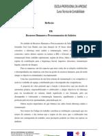 Reflexão recursos humanos processamentos de pessoal
