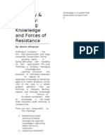 Mckinsey Company Managing Knowledge and Forces of Resistance