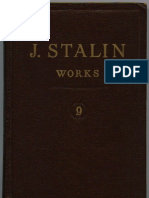 WORKS OF STALIN VOL 9
