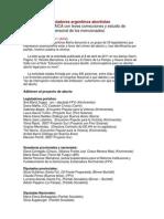 Aborto y Politica en Argentina