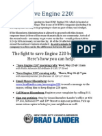 Save Engine 220 Flyer