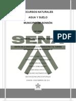 DIAGNÓSTICO AGUA Y SUELO MUNICIPIO DE SONSÓN