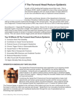 Top 10 Effects Of The Forward Head Posture Epidemic  - Spider Tech Solution Handout