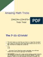 Amazing Math Tricks