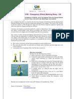 Emergency Wreck Marking Buoy