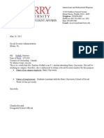 Social Security Application Letter