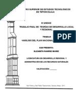 Analisis Del Plan Nacional de Desarrollo