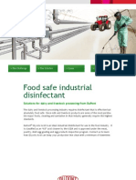 Industrial Disinfectants for the food industry