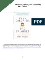 Notes to Good Calories Bad Calories