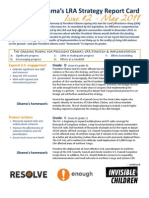 LRA Strategy Report Card - Issue II, May 2011