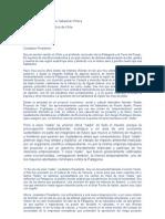 Carta de Luis Sepulveda a Sebastían Piraña