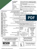 Farmington Lutheran Church Bulletin Announcements May 22, 2011