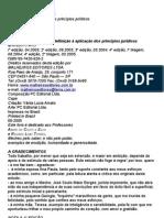 Teoria dos Princípios (2005) - HUMBERTO ÁVILA