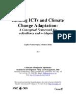 LinkingICTsandClimate ChangeAdaptation: AConceptualFrameworkfor eResilienceandeAdaptation