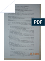 Magistrate Resolution No 3 2010-2011