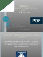 1er principio iso - Organizacion Orientada Al Cliente