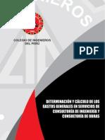Calculo de Gastos Generales en Consultoria de Ingenieria y de Obras