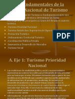 Ejes Fundamentales de la Política Nacional de Turismo