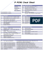 Php Pcre Cheat Sheet